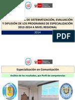 1. Análisis de Resultados Por Perfil de Competecias Comunicación UNPRG Manayay 28.05.14