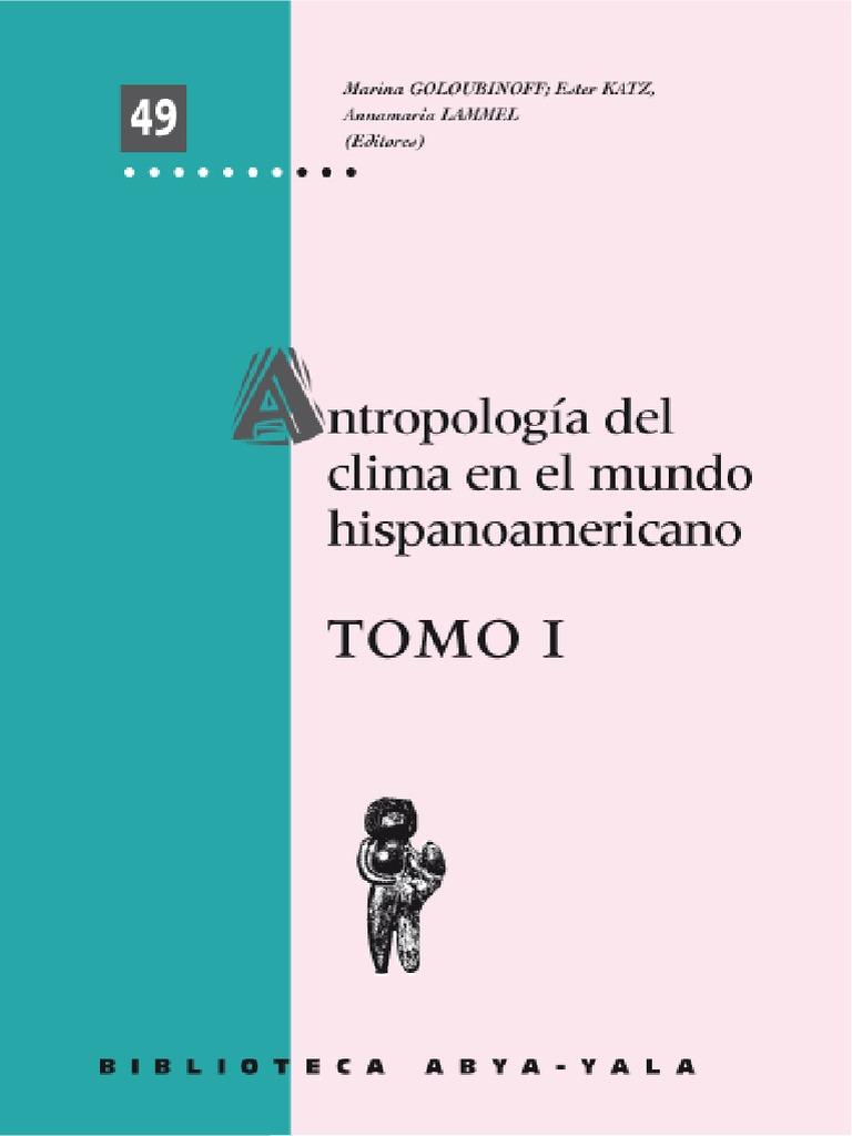 Antropología Del Clima Tomo 1