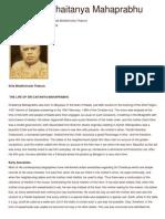 Life of Sri Chaitanya Mahaprabhu