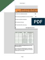 Seis Sigma Calcular Nivel de Calidad Sigma de Un Proceso