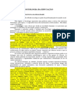 Apostila Sociologia Da Educação - Finalizada
