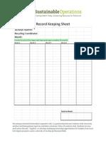 Green Team Record Keeping Sheet