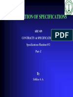 Course Presentations 7 2 Organization of Specifications II