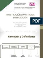 Investigacion Cuantitativa Educacion 22.9.12