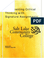 Critical Thinking Signature Assignments Guidebook Rev 1-3