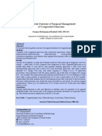 (Abstract) Long term outcome of surgical managment of congenital glaucoma