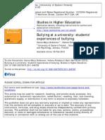 PUEBLA Bullying Studies in Higher Education