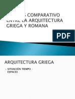 Analisis Comparativo Entre La Arquitectura Griega y Romana