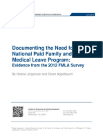 Documenting the Need for a  National Paid Family and  Medical Leave Program