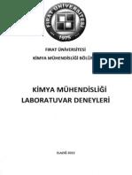 Fırat Üniversitesi Kimya Mühendisliği Laboratuvar Deneyleri Ders Kitabı, 2014