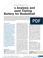 A Needs Analysis and Field-Based Testing Battery for Basketball