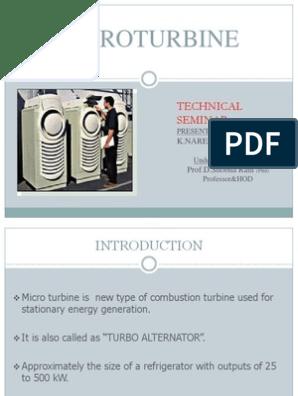 Micro Turbine Ppt | Cogeneration | Gas Turbine