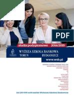 Informator 2014 - Studia Podyplomowe - Wyższa Szkoła Bankowa w Toruniu