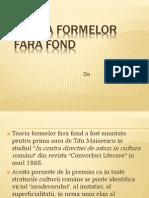 Teoria Formelor Fara Fond