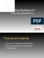 Stanbridge - Teaching Students With Learning Disabilities - By Mary Stadler