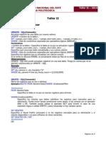 Clase Taller II - Clase IV 2014