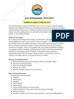 Campus Ambassador Info and Application