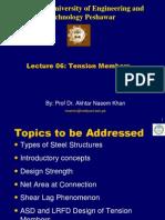Lecture -06 Tension Members