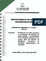 Veeduría - Instalación de Agua Potable y Alcantarillado - Distrito de Miraflores - Arequipa