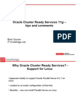 Oracle Cluster Ready Services 11g – Tips and Comments