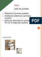 Stock Operativo Habitaciones Item Basicos