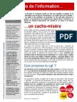 Tract UFCM-CGT Et Lettre Ouvert - Volontaires de l'Information - Juillet 2011