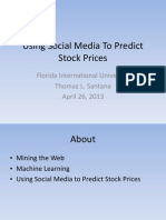 Using Social Media To Predict Stock Prices