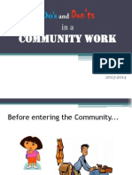Do's and Don'Ts in a Community Work