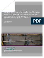 Economical Concrete Mix Design Utilizing Blended Cements, Performance-Based Specifications, And Pay Factors