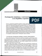 (1398191380)Comotto, Sabrina Participacion Ciudadana y Contrataciones Publicas en La RA. Revista RAP Ano 32 No 377