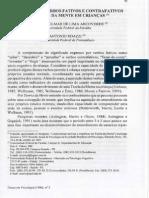 Aquisição de Verbos Fativos e Contrafativos Em Crianças - Arcoverde e Roazzi, 1996 (Temas Em Psicologia)