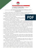 COMUNICATO STAMPA DI ADESIONE ALLA MANIFESTAZIONE DEL 28 NOVEMBRE