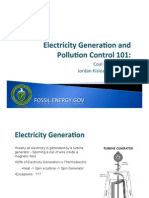 Electricity Generation and Pollution Control 101