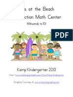 Kids at the Beach Subtraction Math Center Minu Ends To