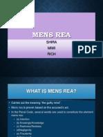 Criminal Presentation - Mens Rea