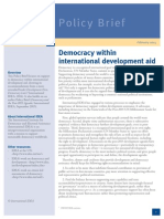 Democracy Within International Development Aid PDF