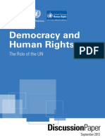 Democracy and Human Rights the Role of the UN PDF