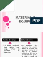 Material y Equipo