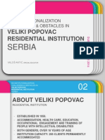 DE-INSTITUTIONALIZATION CHALLENGES & OBSTACLES IN VELIKI POPOVAC RESIDENTIAL INSTITUTION SERBIA