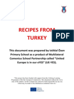 Sample Recipes from Turkish Cuisine