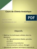 Cours de Chimie Analytique 2010
