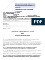Ley Organic Adel Cuerpo Diplomatico