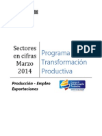 Producción Empleo Exportaciones PTP | Marzo 2014