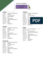 Leachman Schedule 2009-2010
