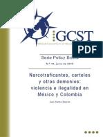 Narcotraficantes, Carteles y Otros Demonios, Violencia e Ilegalidad en Mexico y Colombia