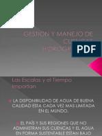 Gestion y Manejo de Cuencas Hidrograficas