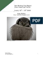 Sweden Birding Trip Report 2006