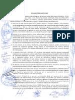 Declaracion COICA Santa Cruz