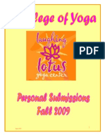 Laughing Lotus College of Yoga Fall 2009 Document