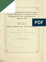Geiger, Die Archaeologischen Und Literarischen Funden Im Turkestan
